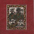 Indian Varli Art Handmade Maharashtra Tribal Miniature Decor Warli Folk Painting