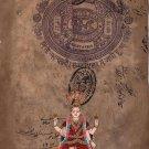 Renuka Devi Hindu Goddess Handmade Art Indian Spiritual Religion Ethnic Painting
