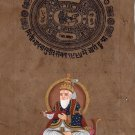 Lord Jhulelal Sindhi Hindu Painting Handmade Indian Ethnic Deity Spiritual Art