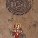 Shitala Mata Devi Hindu Goddess Handmade Painting Indian Spiritual Ethnic Art