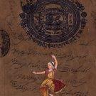 Indian Classical Bharatanatyam Dance Miniature Painting Tamil Nadu Ethnic Art