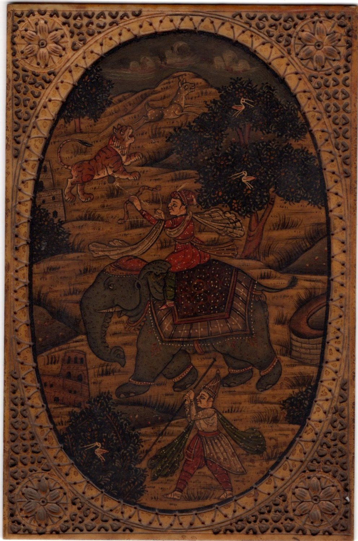 Mughal Empire Miniature Art Handmade Imperial Mogul Emperor Hunt Sport Painting