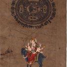 Meldi Mata Hindu Goddess Handmade Art Indian Spiritual Religion Ethnic Painting