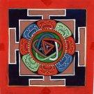 Mandala Meditation Circle Art Handmade Indian Buddha Spiritual Ethnic Painting