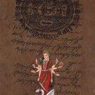 Hinglaj Mata Art Hindu Goddess Religious Handmade Spiritual Ethnic Folk Painting
