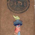 Indian American Peace Liberty Unity Symbolic Art Handmade Ethnic Folk Painting