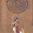 Shiva Baby Ganesha Painting Handmade Spiritual Hindu Indian Ethnic Miniature Art