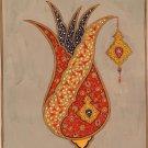 Persian Paisley Pattern Painting Handmade Classic Boteh Motif Miniature Folk Art