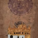 Sikh Holy Golden Temple Painting Handmade Harmandir Sahib Gurdwara Monument Art