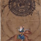 Mai Bhago Sikh Handmade Miniature Painting Sikhism Punjab Bhag Kaur Ethnic Art