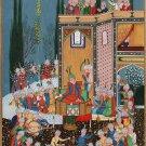 Persian Eid Al Fitr Miniature Art Handmade Diwan of Hafiz Ethnic Indian Painting