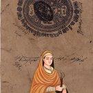 Mata Sundari Sikh Handmade Miniature Painting Sikhism Punjab History Ethnic Art
