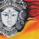 Durga Mother Goddess Art Handmade Indian Ethnic Decor Hindu Oil Canvas Painting