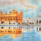 Golden Temple Painting Handmade Ethnic Harmandir Sahib Sikh Gurdwara Punjab Art