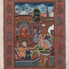 Mughal Empire Miniature Painting Rare Handmade Emperor Babur Indian History Art