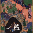 Persian Epic of Kings Painting Handmade Ferdowsi Shahnameh Miniature Artwork