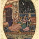 Mughal Ethnic Miniature Painting Handmade Indo Islamic Mogul Harem Decor Art
