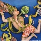 Hanuman Hindu Ramayana Painting Handmade Oil on Canvas India Ethnic Religion Art