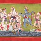 Kangra School Painting Handmade Indian Miniature Krishna Balarama Pahari Art