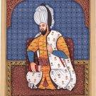 Persian Iran Shah Portrait Art Handmade Watercolor Emperor Asian Ethnic Painting