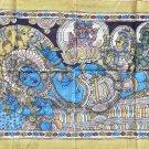 Kalamkari Deity Painting Handmade Indian Ethnic Folk Cotton Fabric Design Art