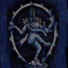 Batik Nataraja Painting Handmade Indian Hindu Deity Tribal Wall Decor Ethnic Art
