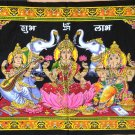 Lakshmi Ganesha Saraswati Batik Folk Art Handmade Indian Tribal Ethnic Painting