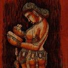 Batik Painting Handmade Indian Tribal Cotton Ethnic Folk Wall Decor Cloth Art