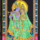 Radha Krishna Batik Folk Art Handmade Indian Tribal Ethnic Hindu Decor Painting