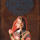 Bani Thani Indian Kishangarh Miniature Painting Handmade Rajasthan Ethnic Art