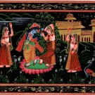 Krishna Radha Hindu Deity Art Indian Hand Painted Home Decor Religious Painting