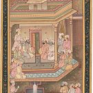 Handmade Indo Persian Miniature Painting Islamic Tazhib Ethnic Royal Court Art