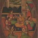 Mughal Miniature Painting Handmade Indian Classical Harem Watercolor Folk Art