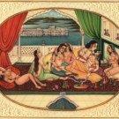 Mughal Miniature Painting Handmade Indian Moghul Empire Erotic Harem Decor Art