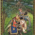 Mughal Empire Miniature Painting Shah Shuja Aurangzeb Murad Baksh Handmade Art
