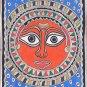 Madhubani Sun God Ethnic Art Handmade Indian Tribal Mithila Bihar Folk Painting