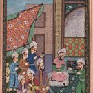 Persian Miniature Painting Handmade Paper Asian Opaque Watercolor Ethnic Artwork