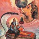 Varaha Vishnu Avatar Oil Color Art Handmade Indian Hindu Brahma Deity Painting