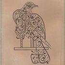 Handmade Indian Islamic Eagle Bird Art Zoomorphic Arabic Calligraphy Painting