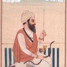 Sikh Chief Bhag Singh Ahluwalia Painting Indian Miniature Punjabi Warrior Art