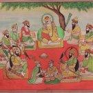Sikh Guru Nanak Ten Guru Miniature Art Handmade Rare Sikhism Religion Painting