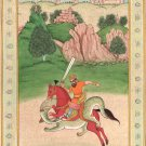 Persian Shahnama Miniature Painting Handmade Ferdowsi Shahnameh Rustam Folk Art