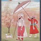 Sikh Guru Har Rai Art Handmade Sikhism Seventh Guru Religious Indian Painting