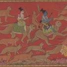Ramayana Rama Lakshmana Art Handmade Indian Miniature Hanuman Angada Painting