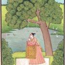 Yoga Yogini Ragini Art Handmade Indian Miniature Ragamala Decorative Painting