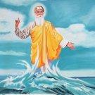 Guru Nanak Sikh Painting Handmade Punjab Spiritual Oil Canvas Ethnic Sikhism Art