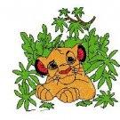Lion King Simba Embroidery Design
