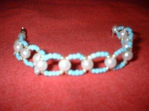 Baby Blue Beaded Bracelet