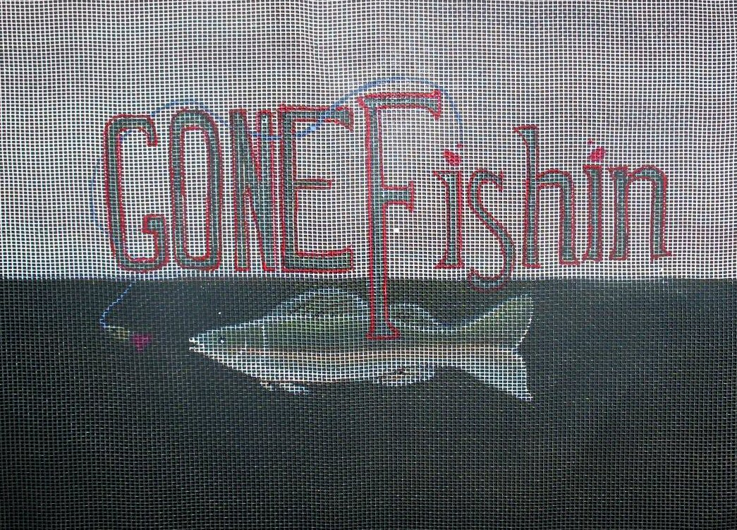 Gone Fishin With Bobber & Fishing Line