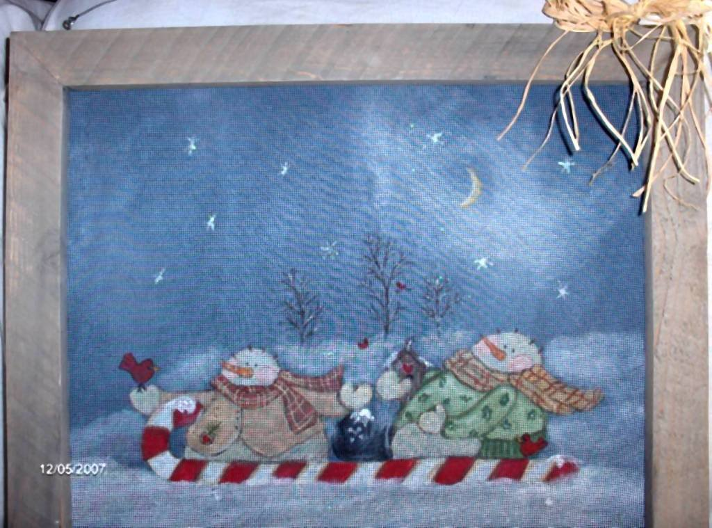 Snowmen In Candy Sled